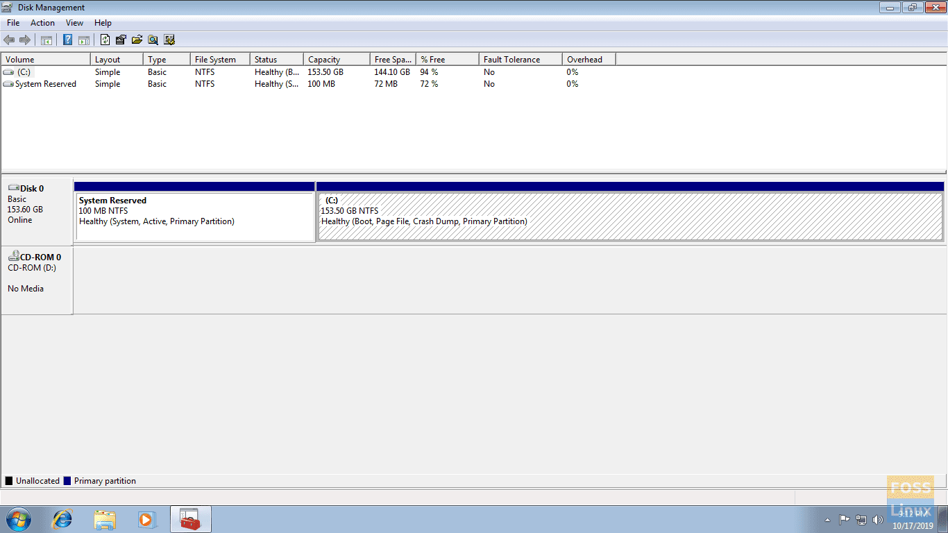 Select Disk To Shrink