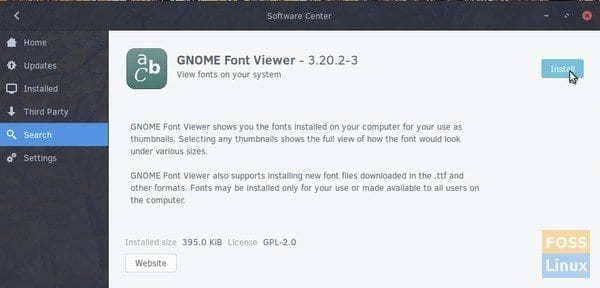 Install GNOME Font Viewer