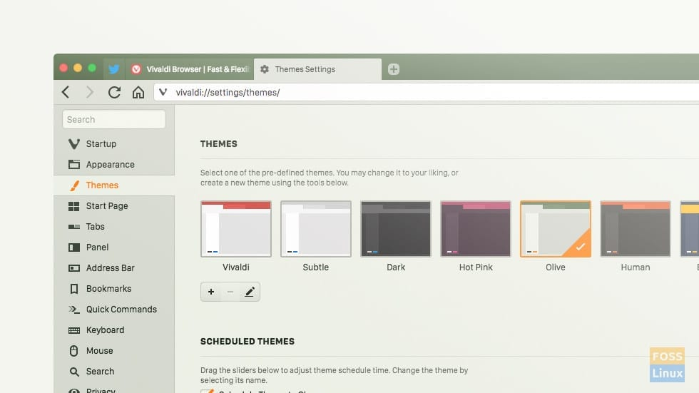 User interface options
