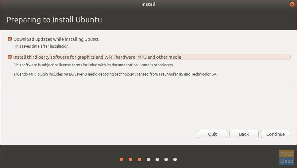 Optionally download updates and codec while installing Ubuntu