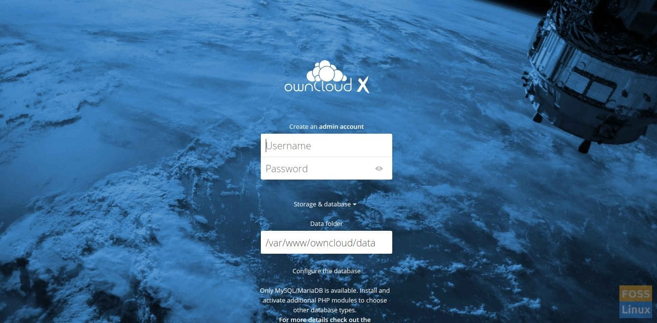 Owncloud Web Interface