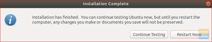 After Installation Completes On USB