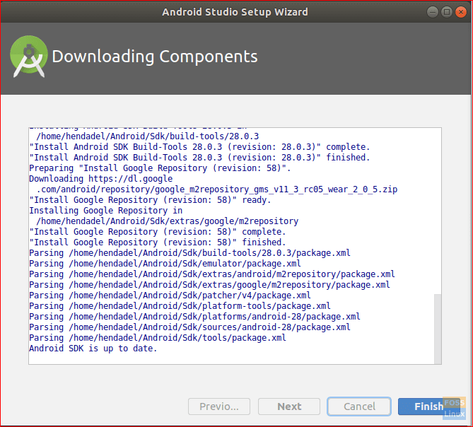 Android Studio Installation Completes Successfully