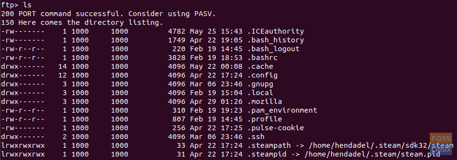 Sample Output Of The ls Command