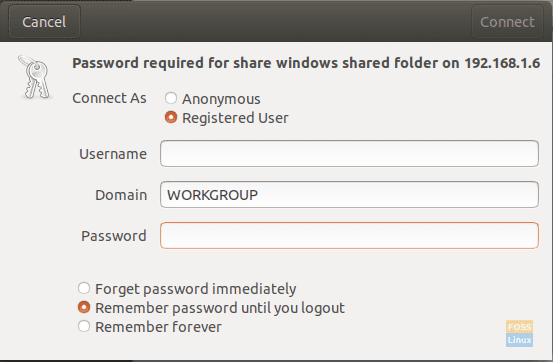 Enter Your Windows Machine Username And Password