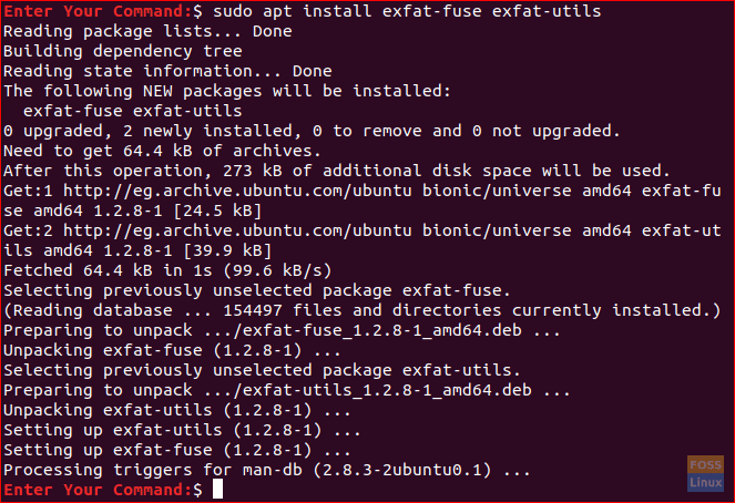 Install The Required exFAT Packages
