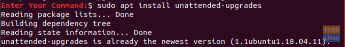 Install The unattended-upgrade Package