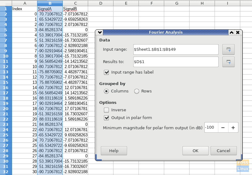 LibreOffice-6.3-FOURIER-function