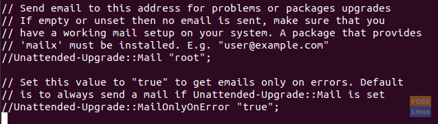 The unattended-upgrade Package Email Notifications