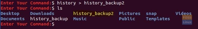 Backup The History File Second Method