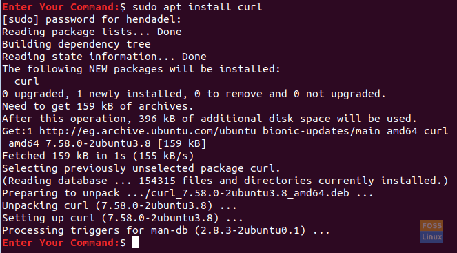 Install The curl Package On Ubuntu