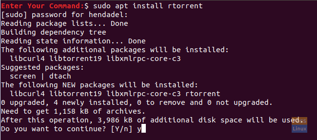 Install The rTorrent Package On Ubuntu