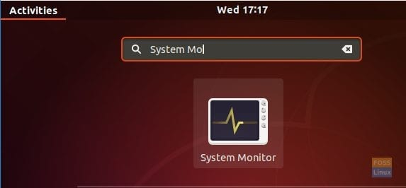 Open The System Monitor Application