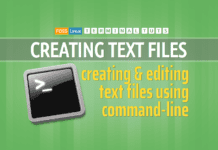creating text files command line