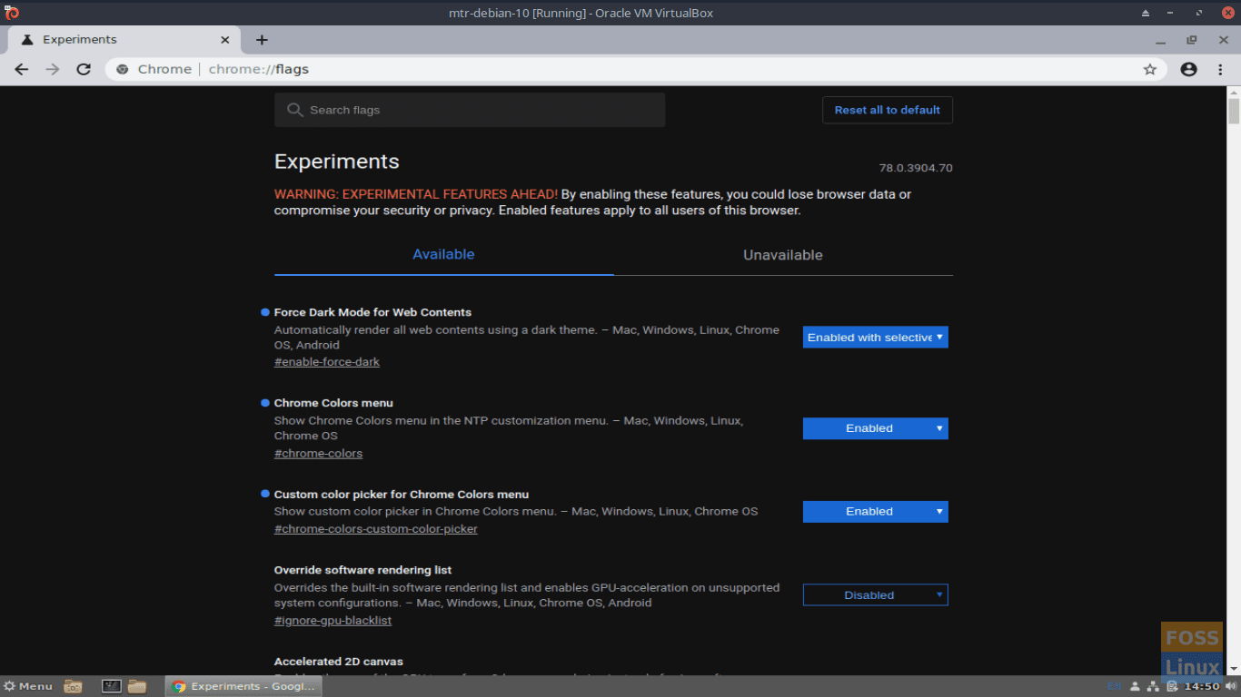 fosslinux.com readers are encouraged to browse and test the experimental features