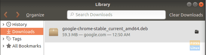 Double Click On the Google Chrome Downloaded File