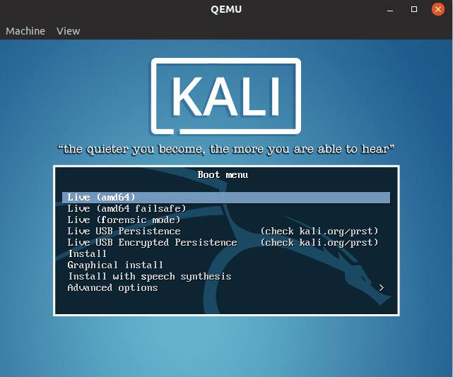 ISO Boot Kali Linux Image