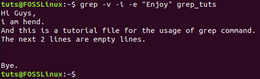 Preview Lines That Does not Contain the Given String