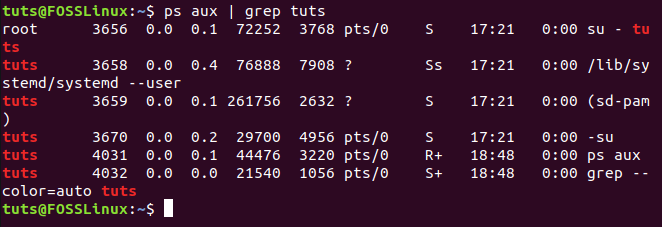 Search Output Of Command