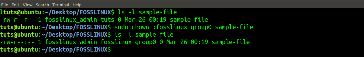 change group of a file