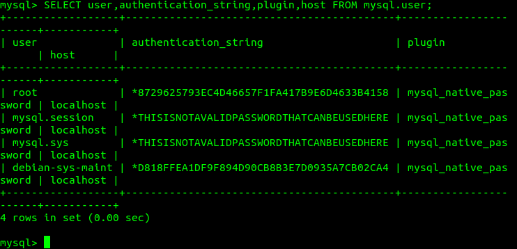 Check root authentication