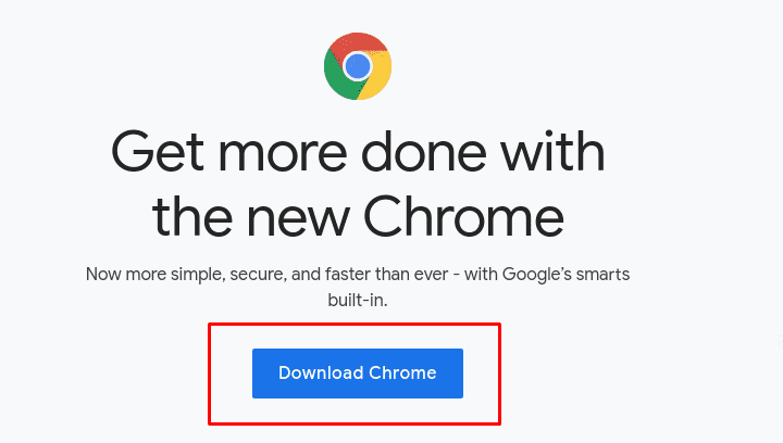 Download Chrome using Firefox