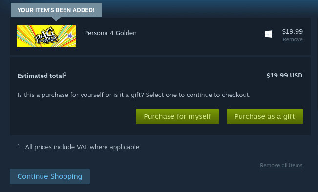 Purchase Persona 4 Golden