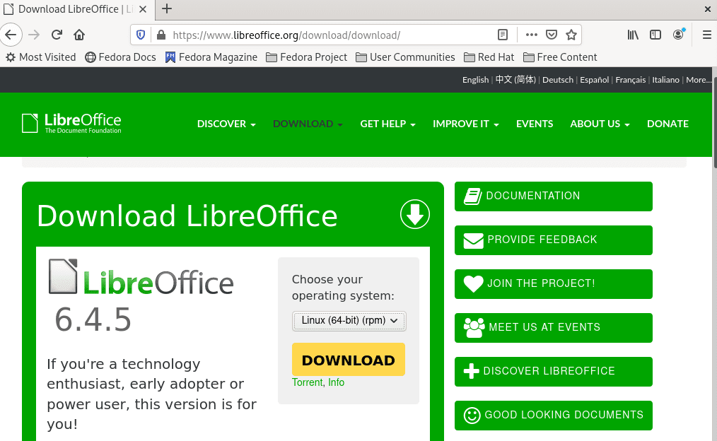 Image-showing-where-and-how-to-download-LibreOffice-RPM-package