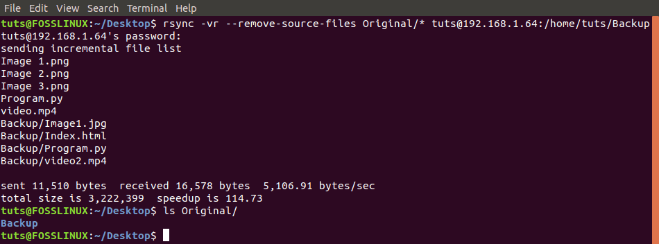 Delete Source Files after a succefull transfer