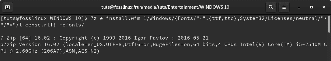 Extract Fonts