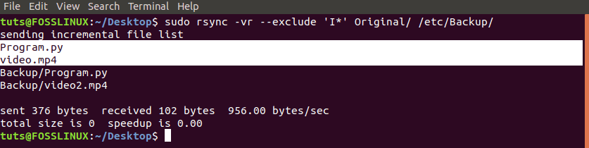 Use Rsync with the '--exclude' option
