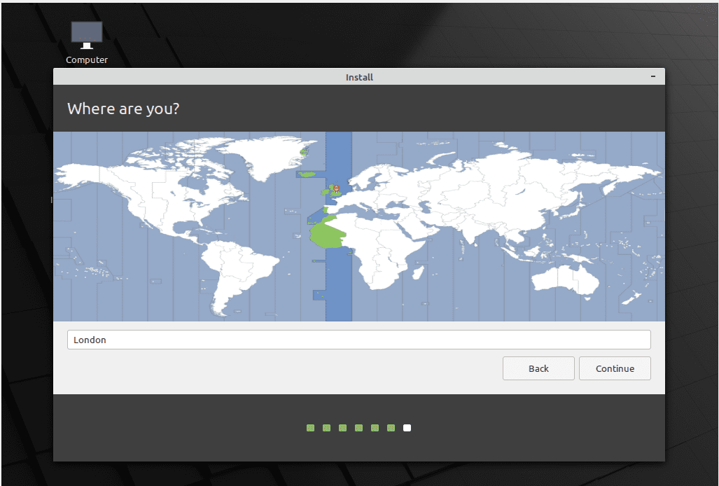 Linux Mint Installation Set Time Zone