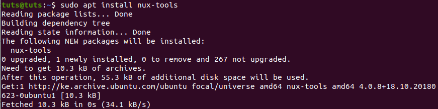 Install nux-tools