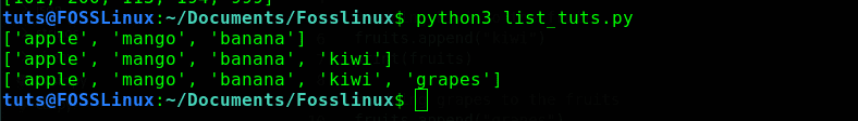 append() function