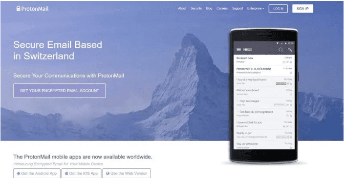 ProtonMail email Service