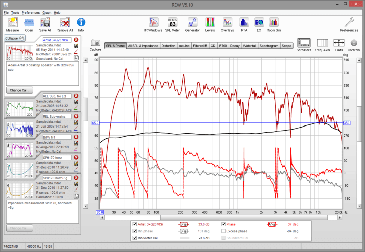 Room EQ Software Interface