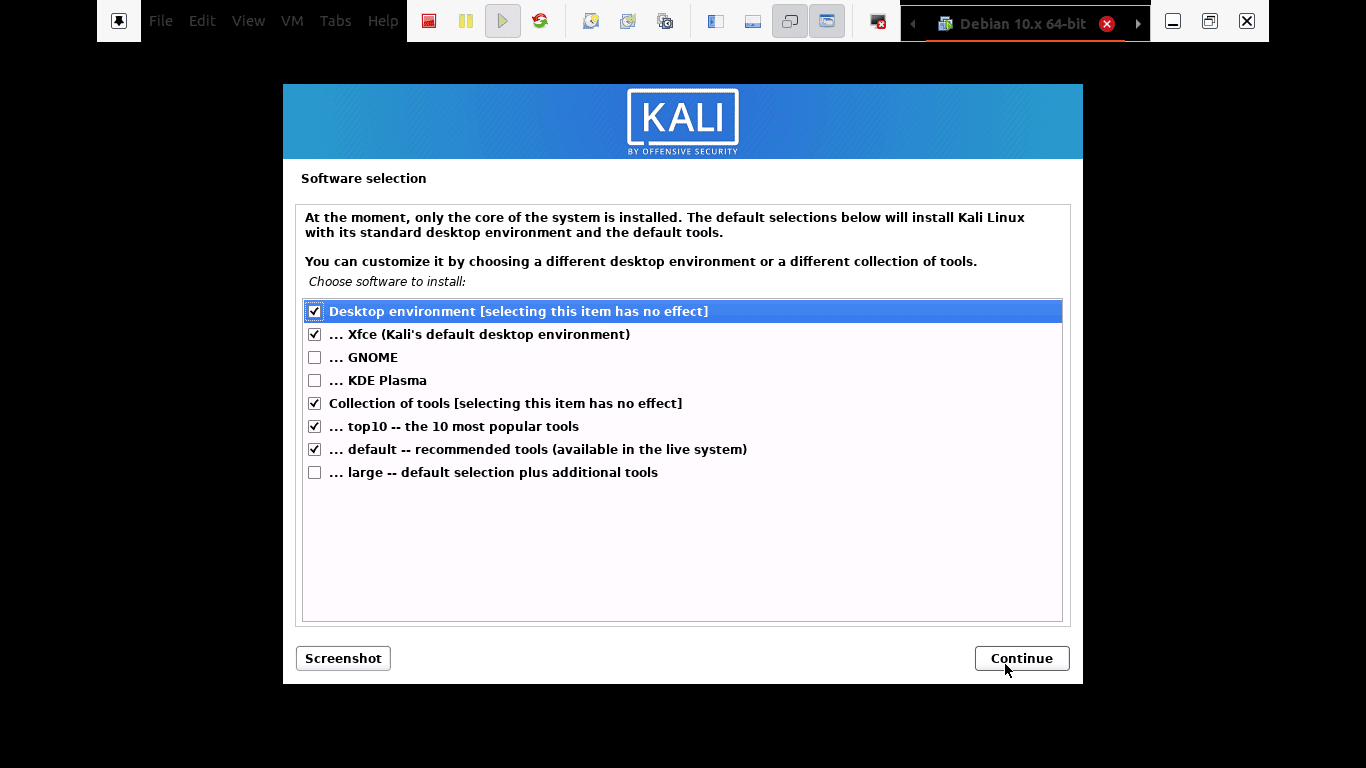 select which meta-packages to install