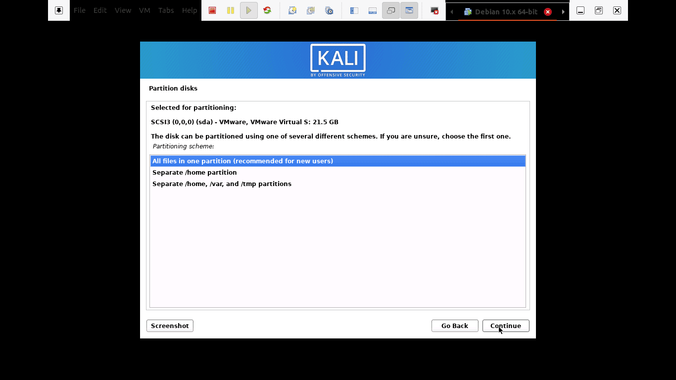you can choose to keep all your files in a single partition that comes as default