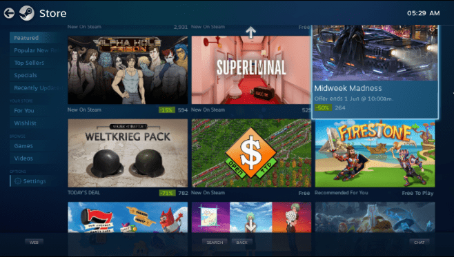 SteamOS Store