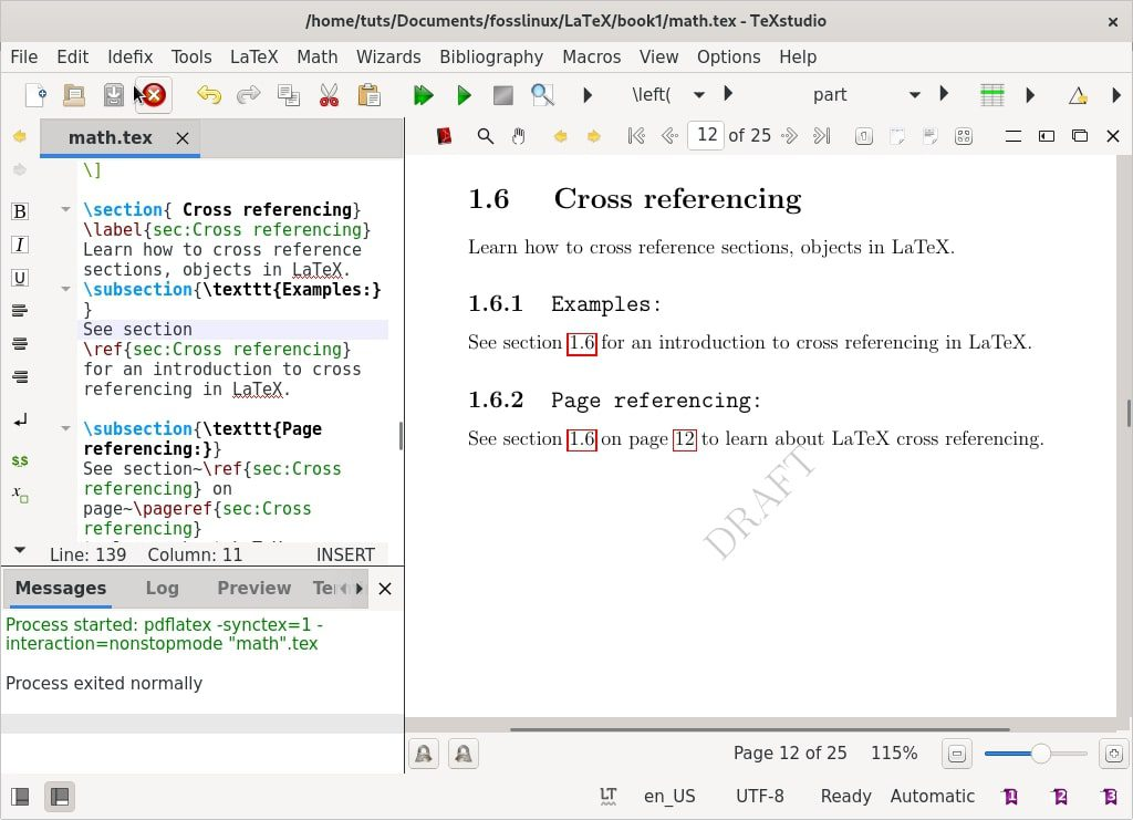 cross-referencing