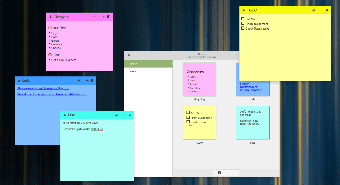 sticky notes note taking application
