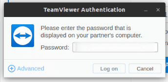 Using TeamViewer Partner Password to make a remote computer connection