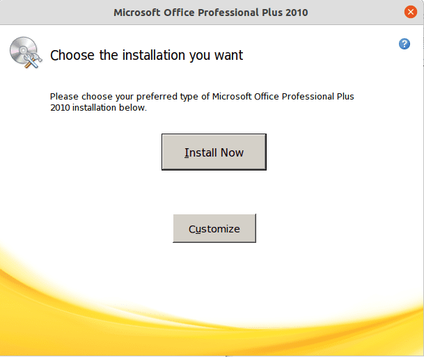 select install now 2