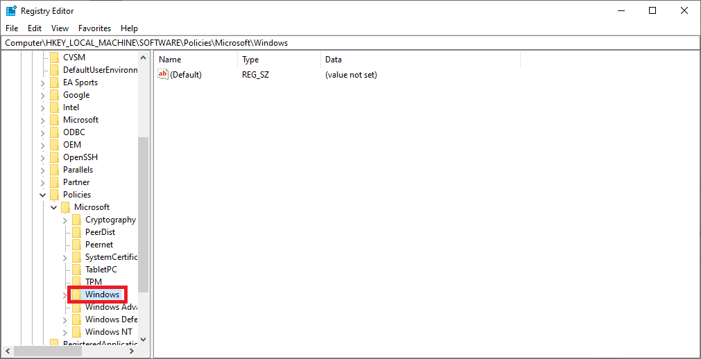 locating the windows directory
