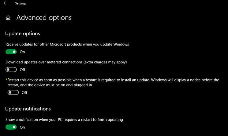 schedule the installation of downloaded updates