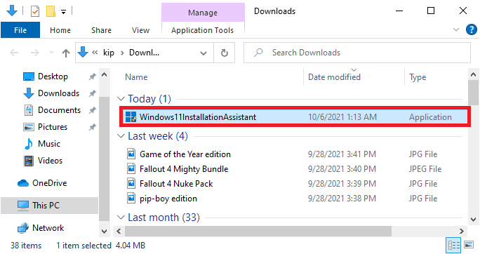 open downloaded windows 11 installation assistant