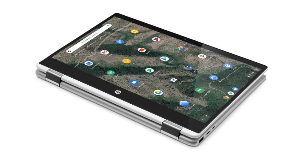 HP Chromebook x360 tablet mode
