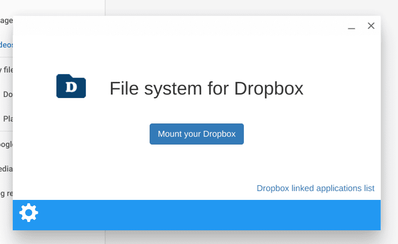 Connecting to Dropbox