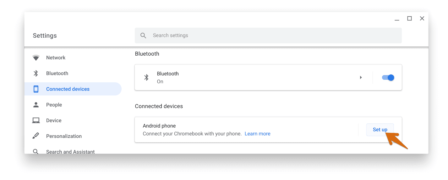 Settings - Connected devices