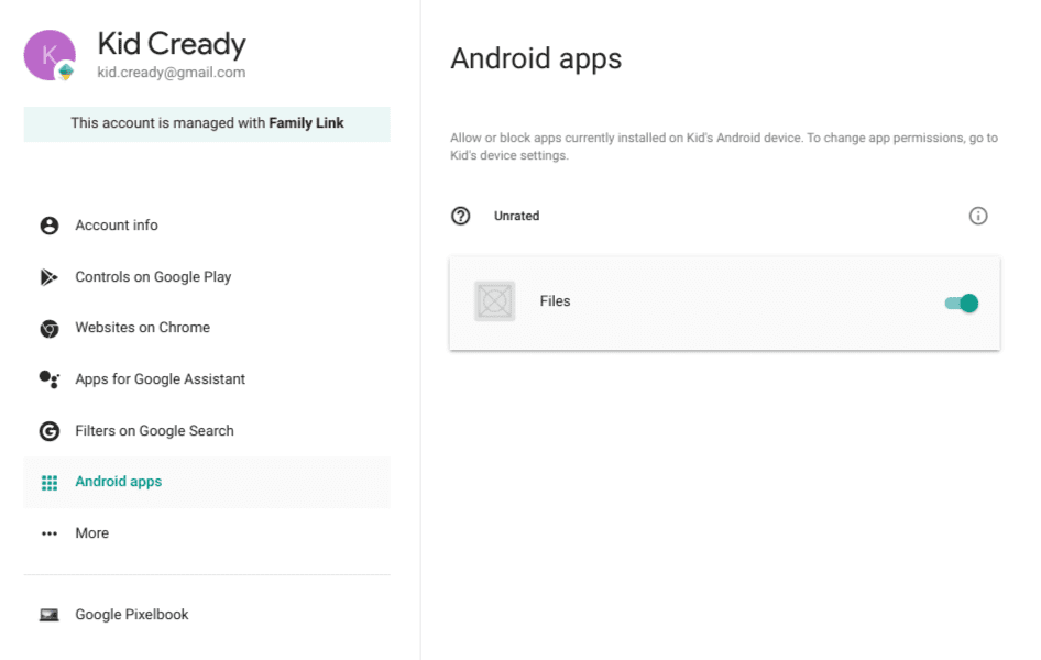 Android Apps access